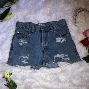 True Vintage Levi Short Shorts Ripped & Distressed